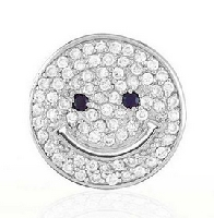 Smileyland smiley shop jewelery get rings pendants charms smiley face pendant sterling silver aloadofball