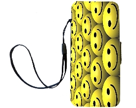 Smiley Face Magnetic Flip Case Iphone