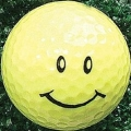 Joke Smiley Golf Ball